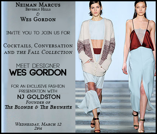 You're Invited!! B&B Sits Down with Designer Wes Gordon.