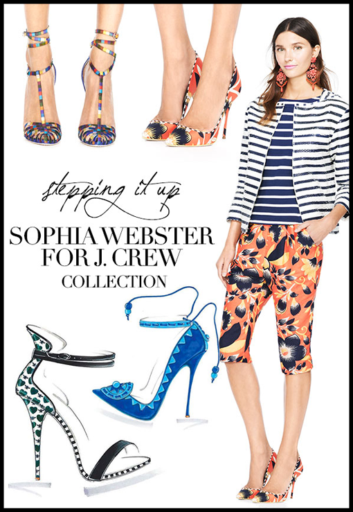 Shoeacholics. J.Crew x Sophia Webster Is Here!