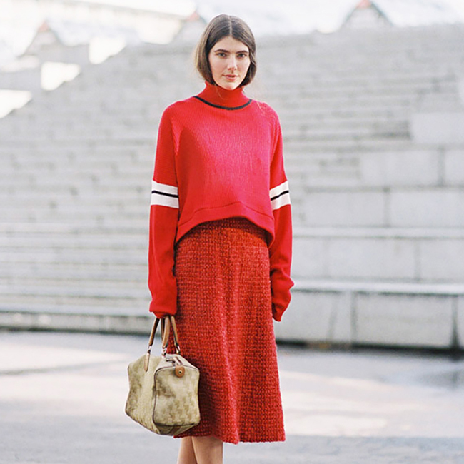 Trending: The Sweater + Skirt (Or Sskirt)