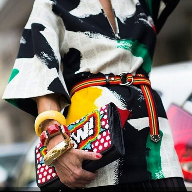 Live from Paris Fashion Week: Tonya Hawkes One of a Kind Clutches!