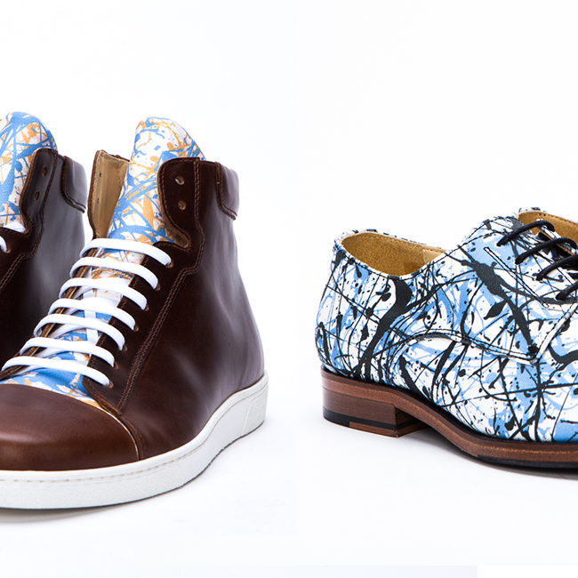 Cameron Helm Paint-Splattered Shoes For Summer