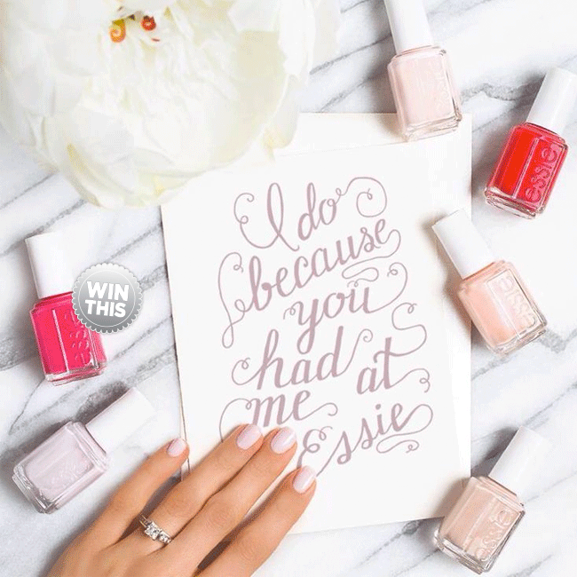 Essie Bridal Polish GIVEAWAY - Because Let\'s Face It, A Happy Wife ...