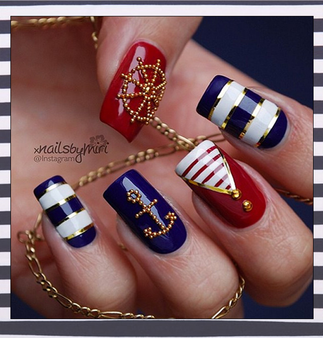Beaming Red White And Blue Our Favorite 4th Of July Nail Designs