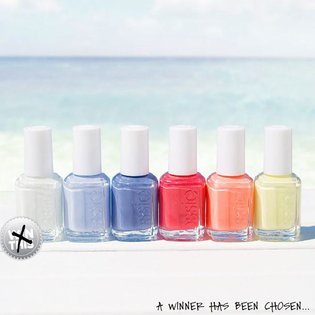 Congratulations To The Winner Of The Essie Endless Summer Giveaway!