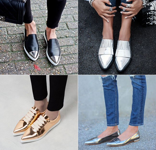 The Must-Have Metallic Shoes