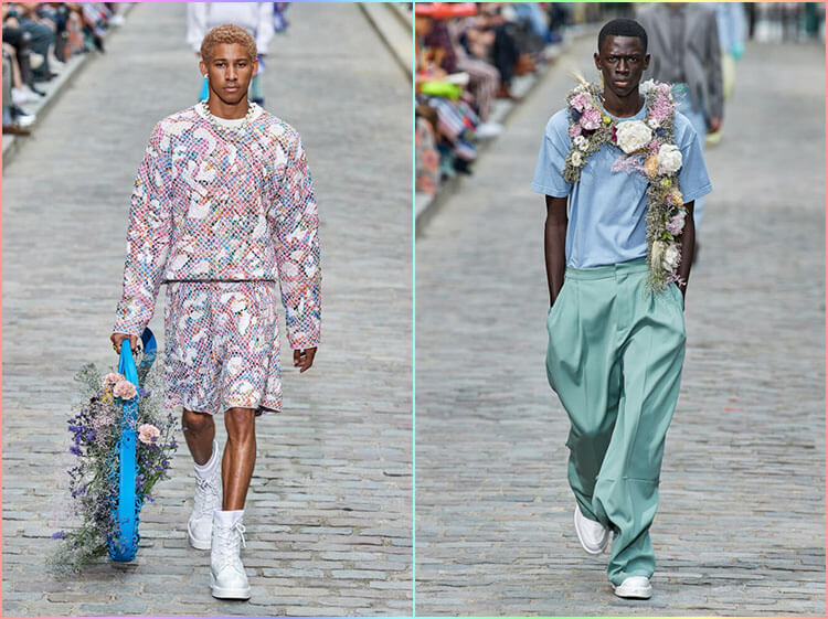 Louis Vuitton Mens SS20: Virgil Abloh's Flower Power Breaks Gender Norms